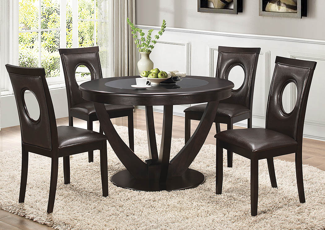Harlem Furniture Cappuccino Dining Table W 4 Side Chairs