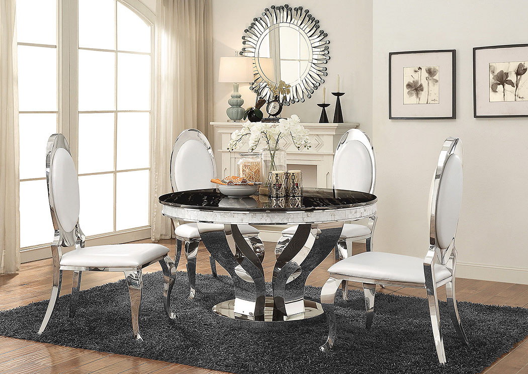 Silver Dining Table,Coaster Furniture