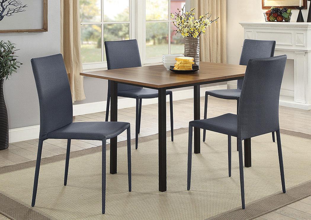 Matt Black Dining Table,Coaster Furniture