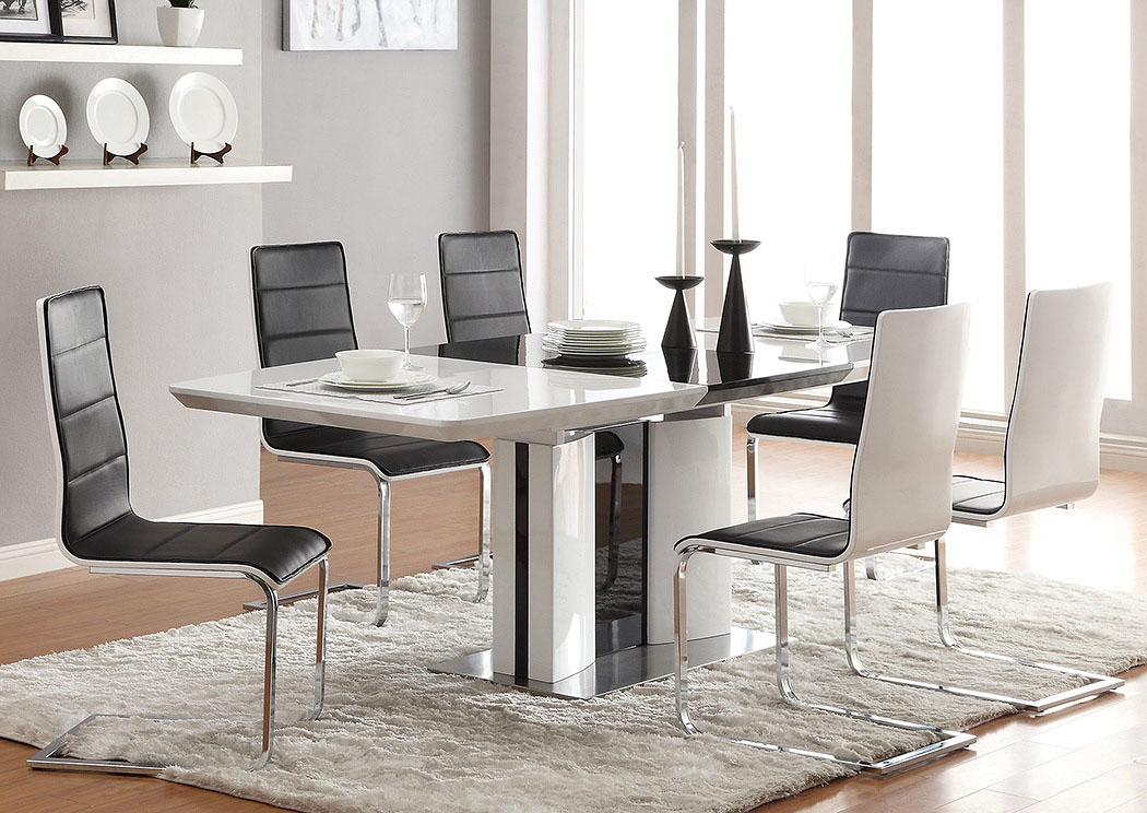 Broderick Modern White Dining Table,Coaster Furniture