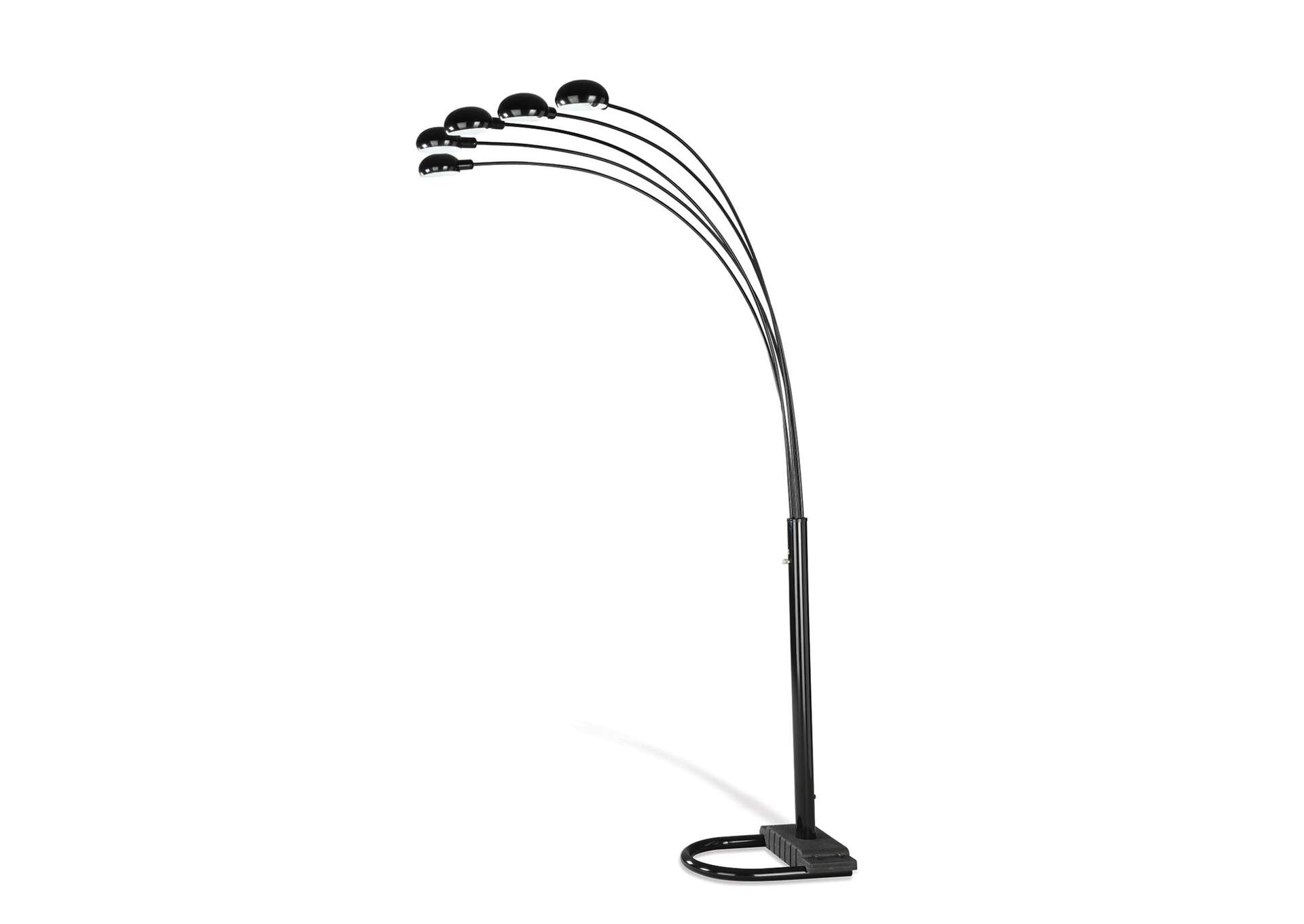 Satin Black Overhead Floor Lamp,Coaster Furniture