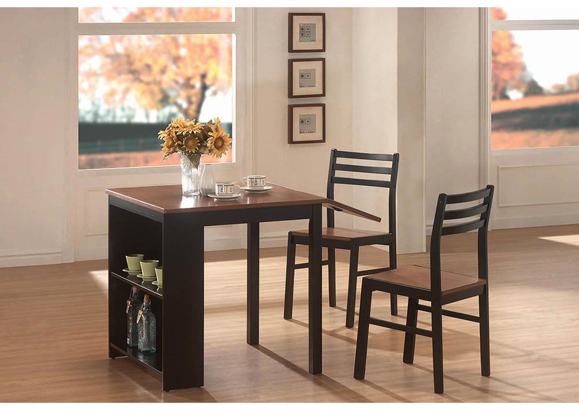 Two Tone Breakfast Table 3 Piece Set,Coaster Furniture