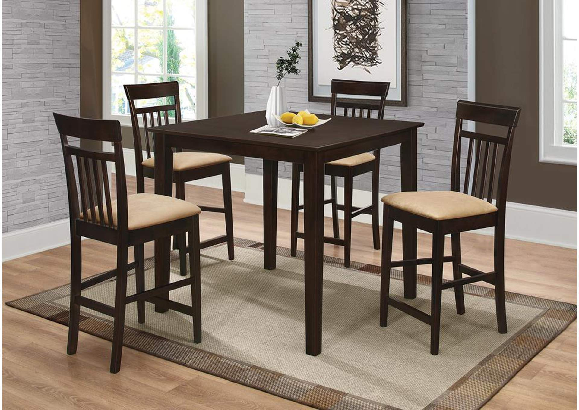 Counter Height Table/Chair 5pc Set,Coaster Furniture