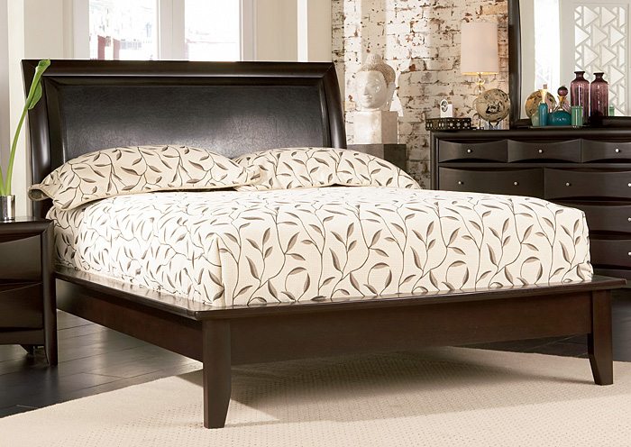 Phoenix Cappuccino Platform King Bed,Coaster Furniture