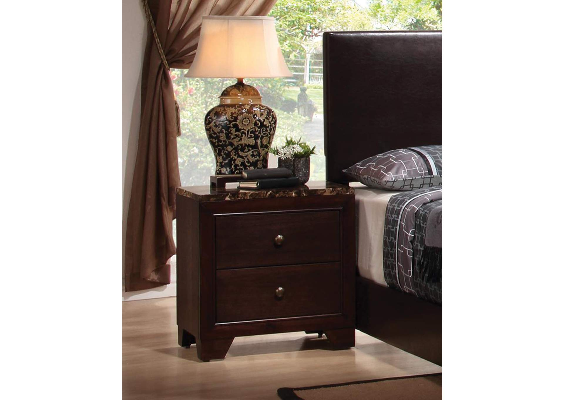 Conner Walnut Night Stand,ABF Coaster Furniture
