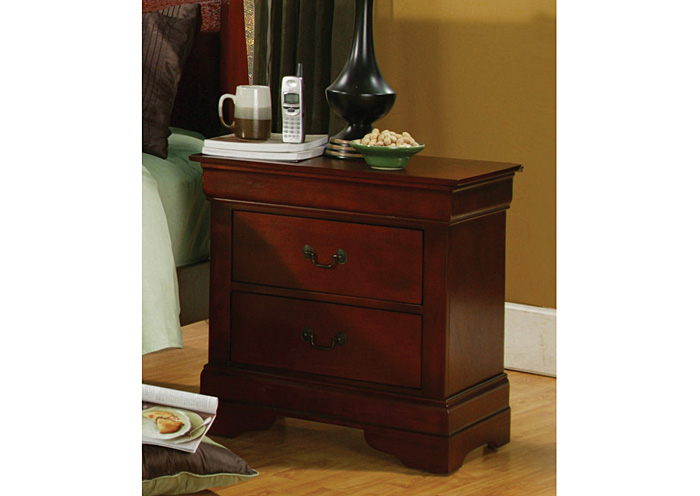 Louis Philippe Cherry Night Stand,Coaster Furniture