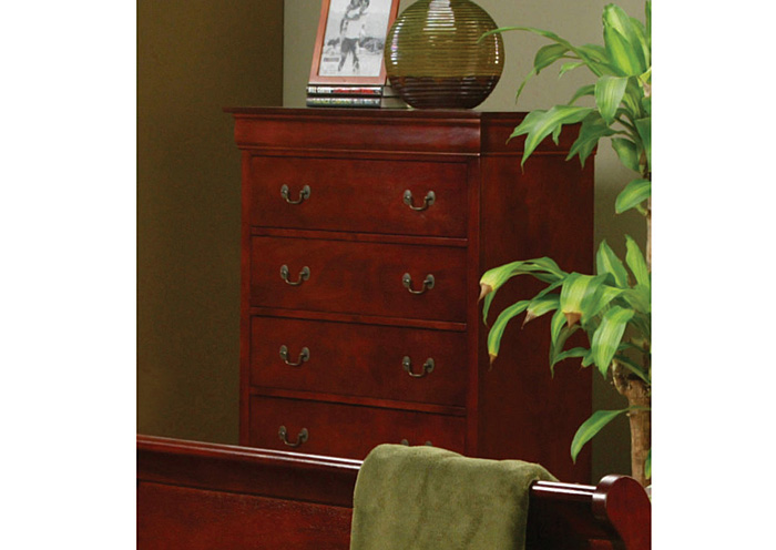 Louis Philippe Cherry Chest,Coaster Furniture