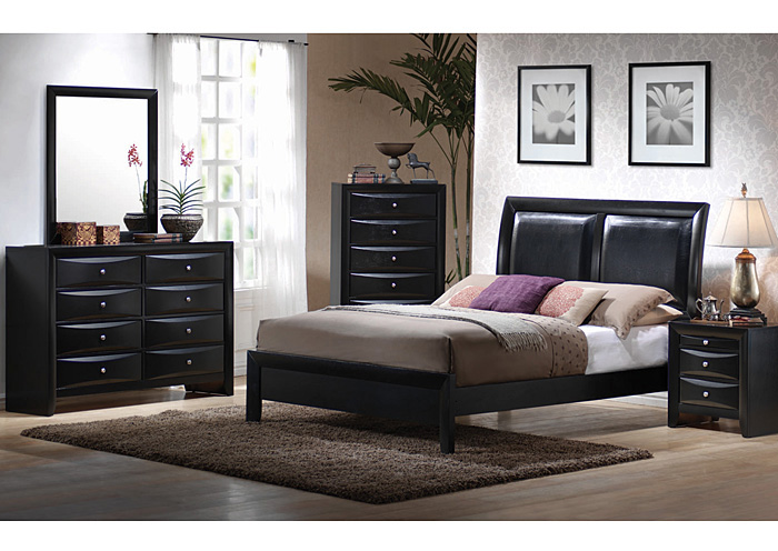 Briana Black Queen Bed,Coaster Furniture