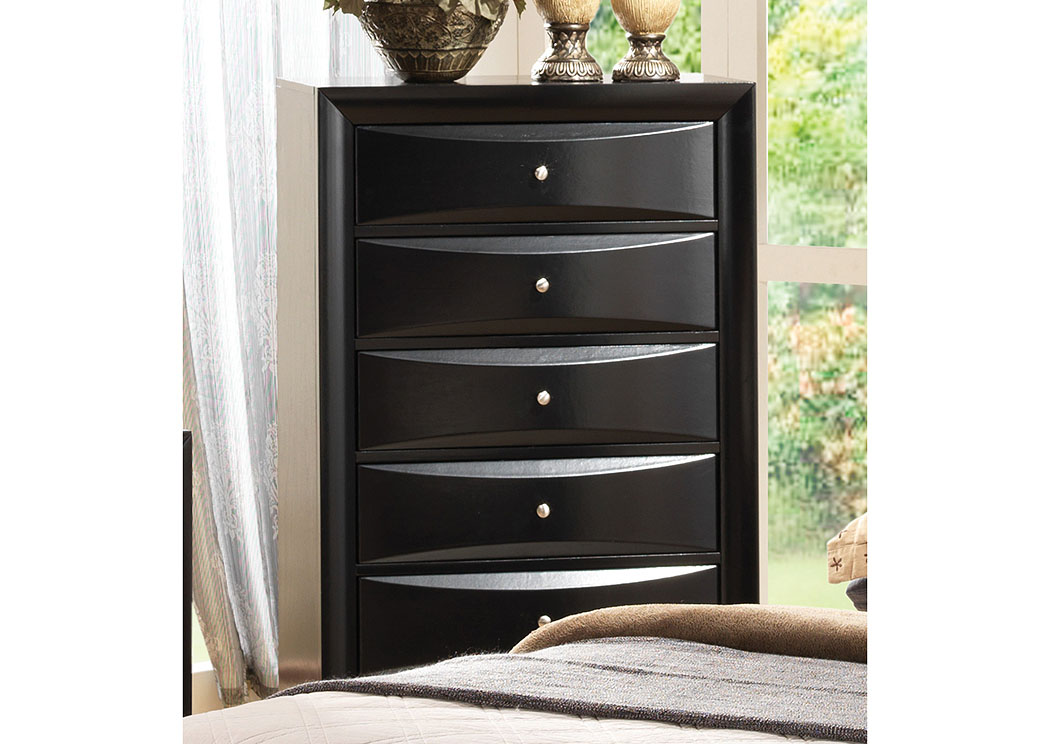 Briana Black Drawer Chest,Coaster Furniture