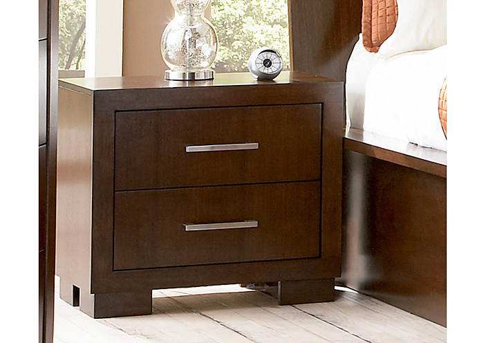 Jessica Cappuccino Night Stand,Coaster Furniture