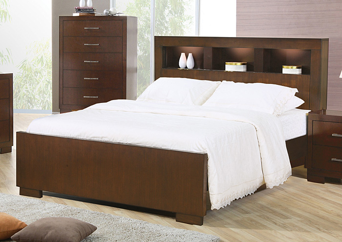 Jessica Cappuccino California King Bed,Coaster Furniture