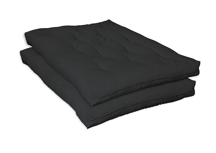 Black Deluxe Innerspring Futon Pad,Coaster Furniture