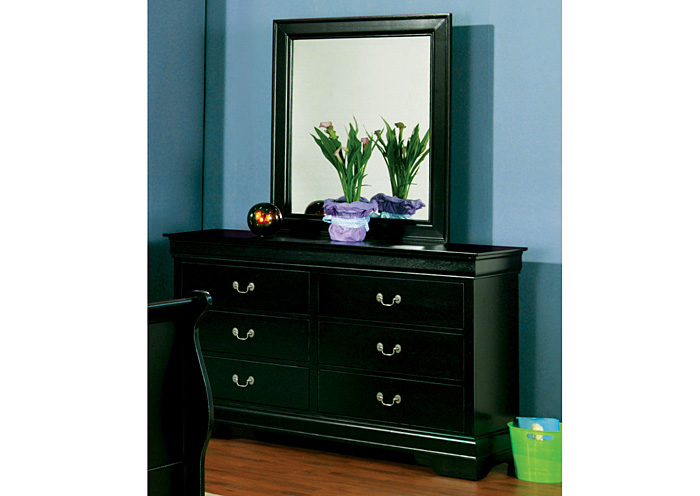 Louis Philippe Black Dresser,Coaster Furniture