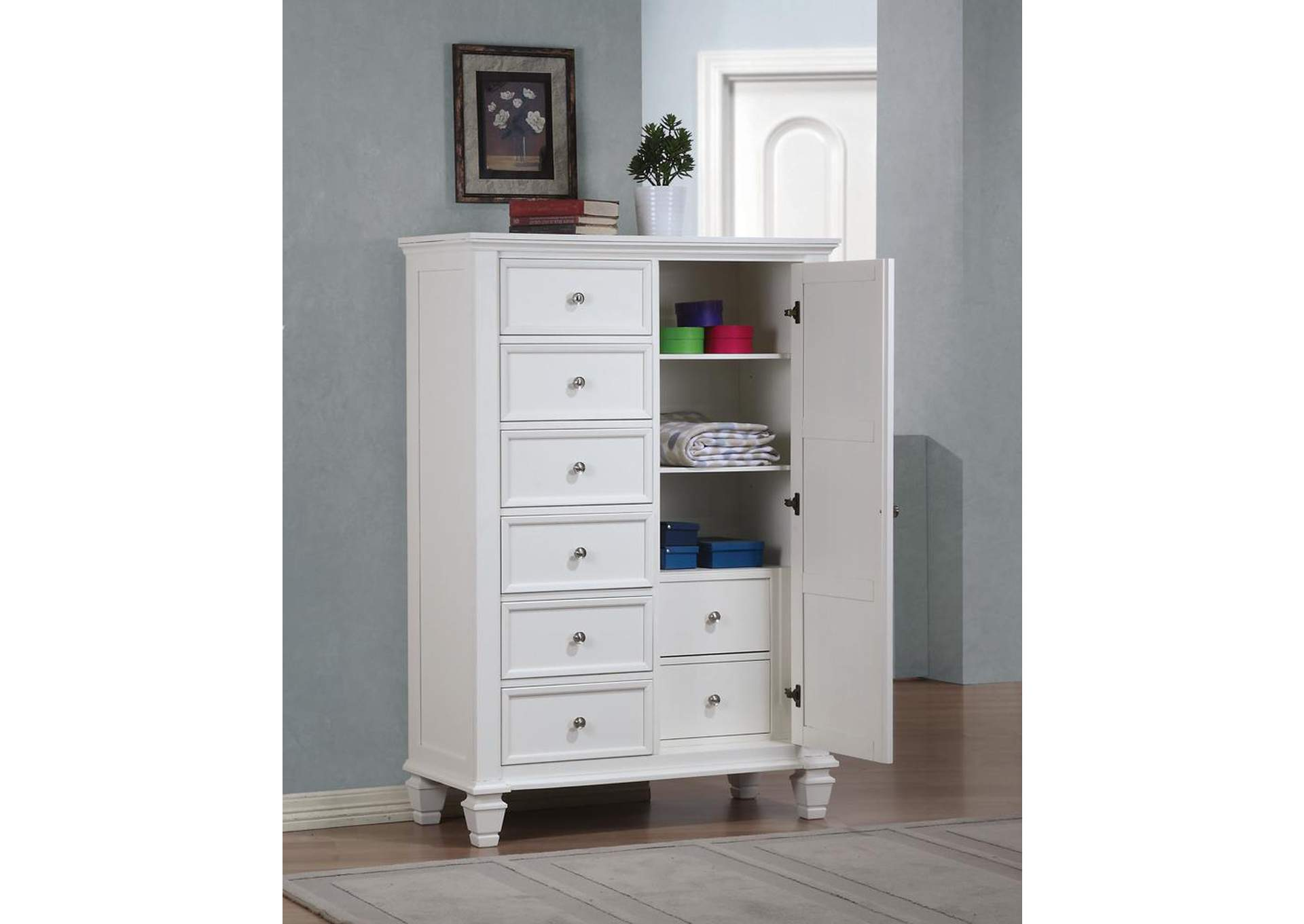 Sandy Beach White Door Chest,Coaster Furniture