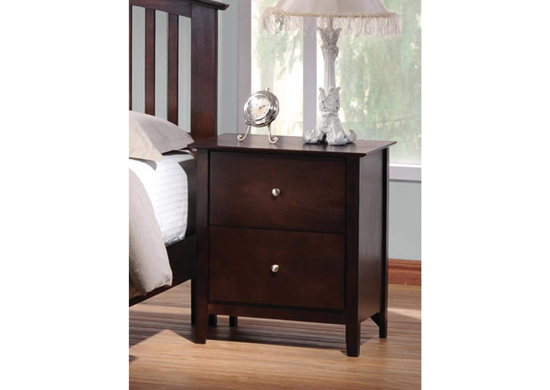 Tia Cappuccino Night Stand,Coaster Furniture