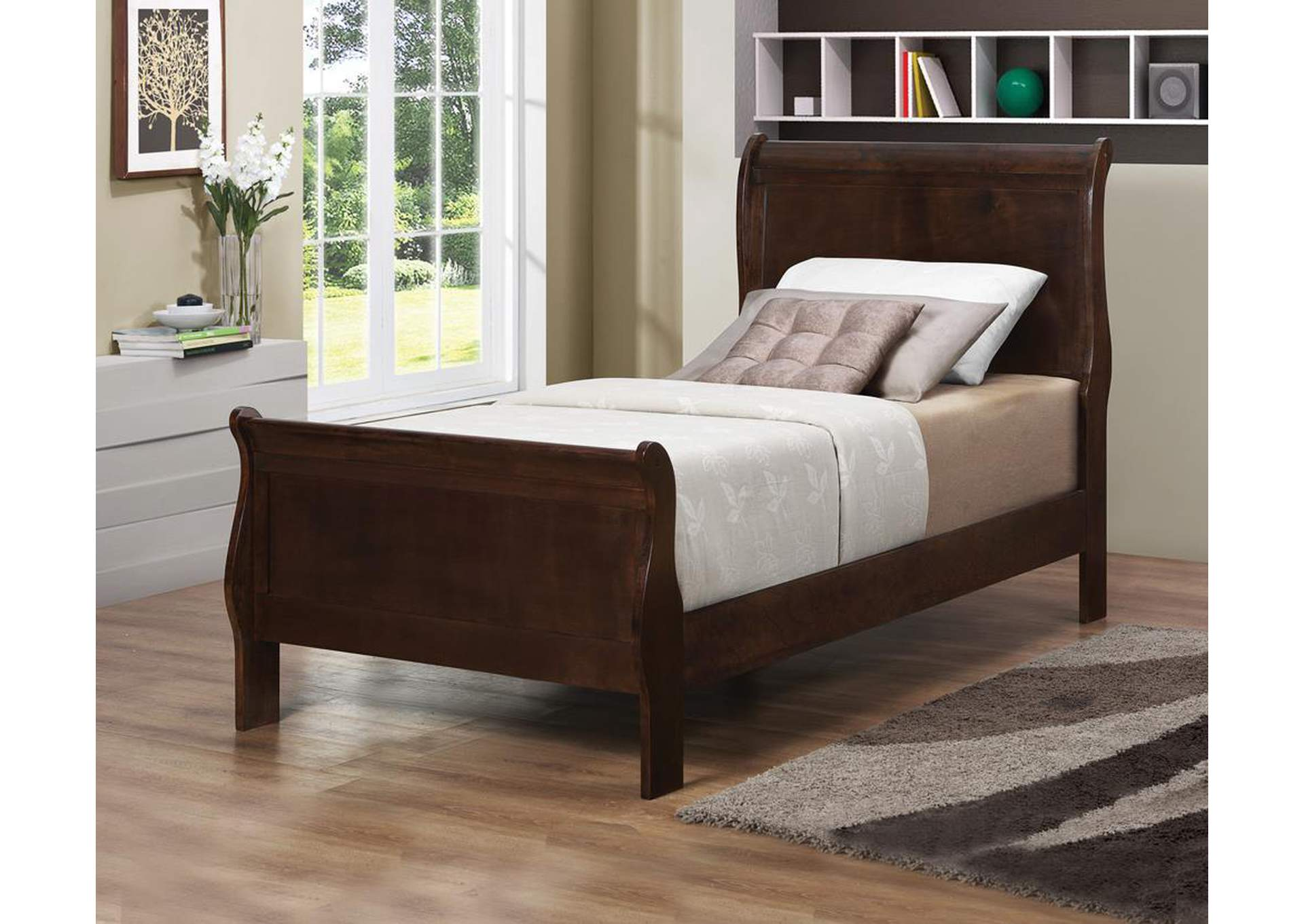 Louis Philippe Cappuccino Twin Sleigh Headboard,Coaster Furniture