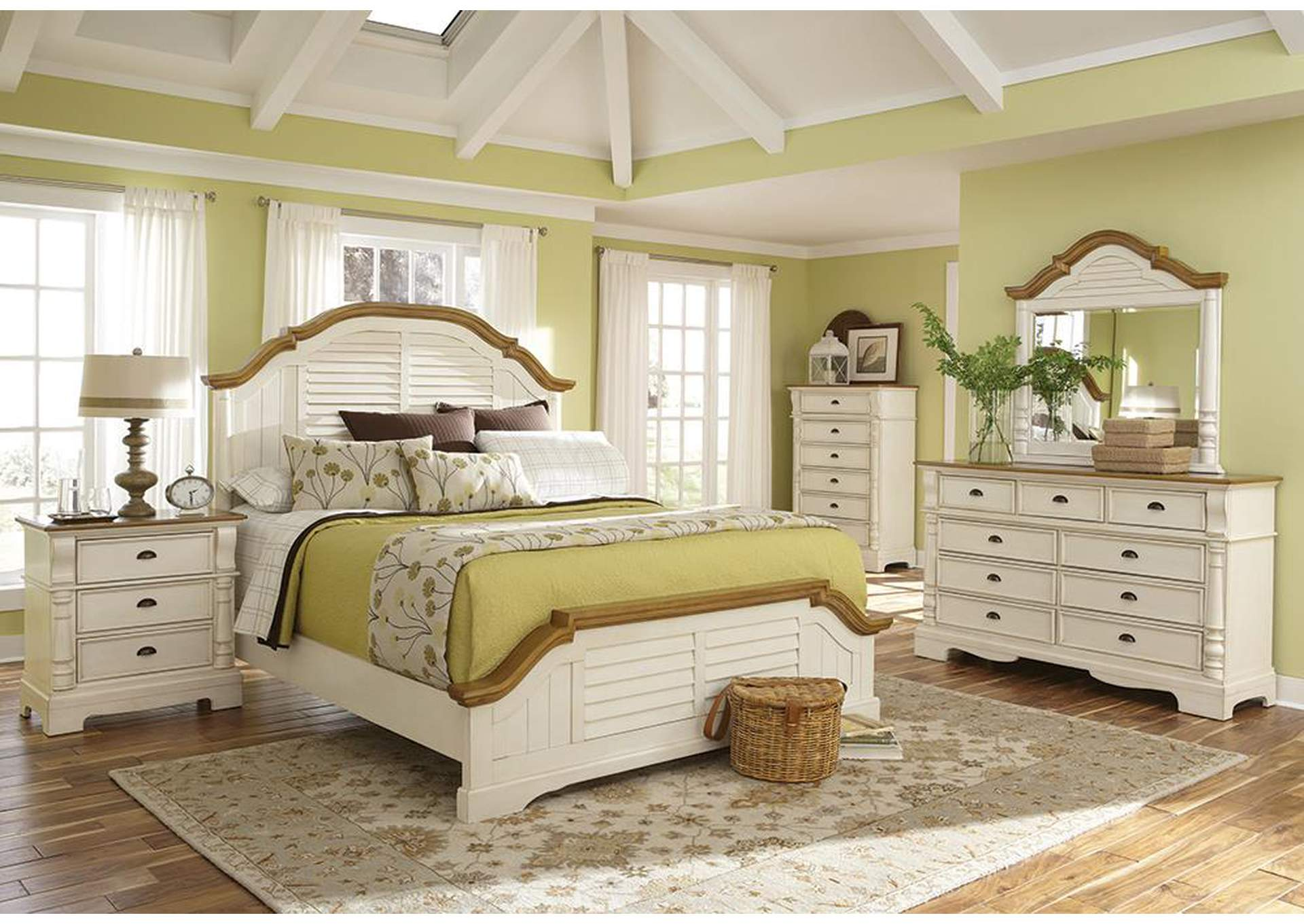 Oleta Buttermilk King Bed,Coaster Furniture