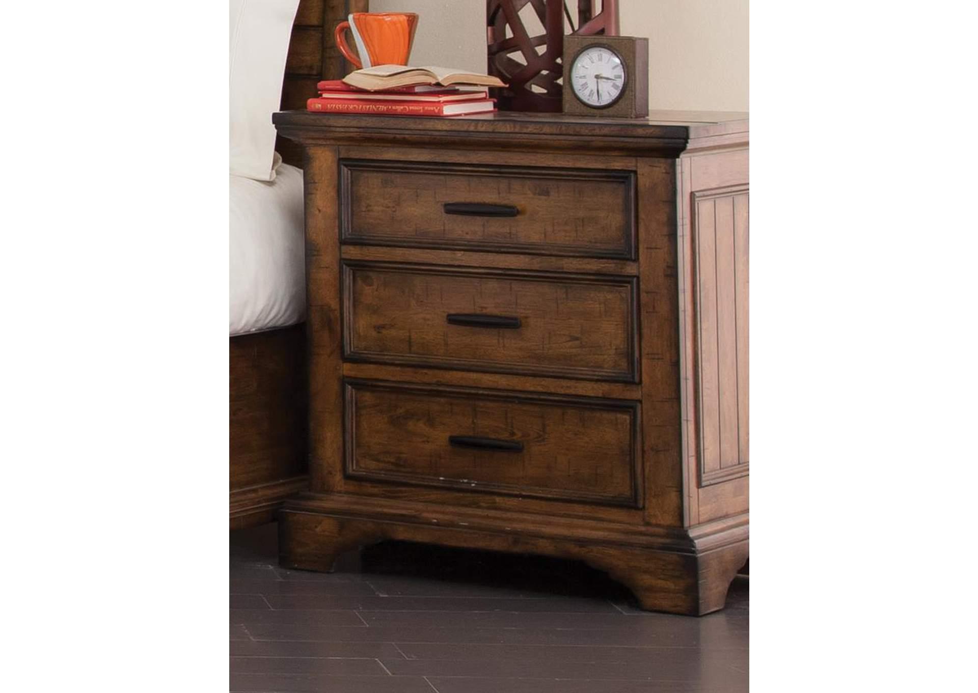 Furniture Liquidators - Baton Rouge, LA Vintage Bourbon Nightstand