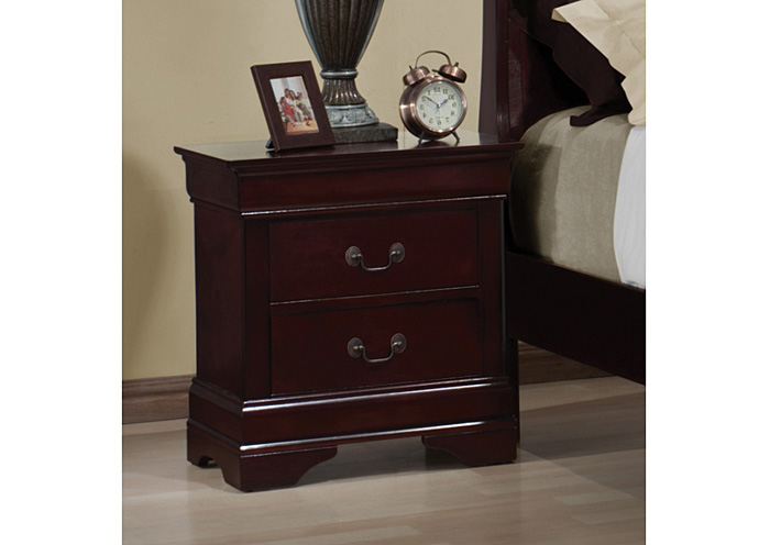 Oak Furniture Liquidators Louis Philippe Cherry Night Stand