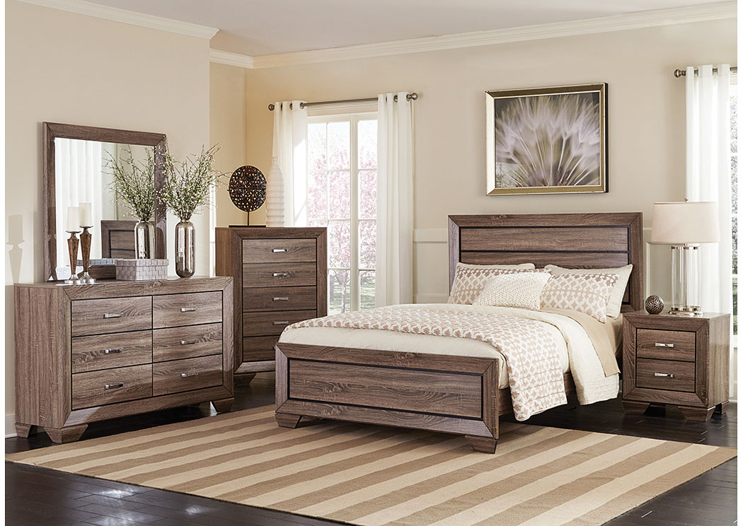 Eastern King Bed w/Dresser, Mirror & Nightstand,Coaster Furniture