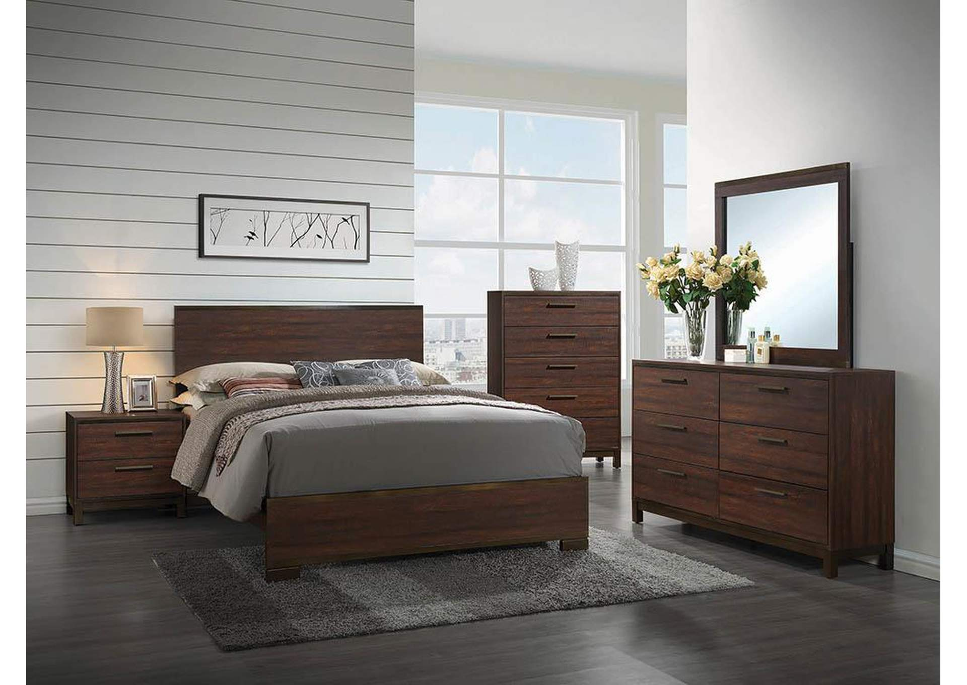 Harlem Furniture Rustic TobaccoDark Bronze Queen Panel Bed : 204351Q from harlemfurniturenyc.com size 1050 x 744 jpeg 153kB