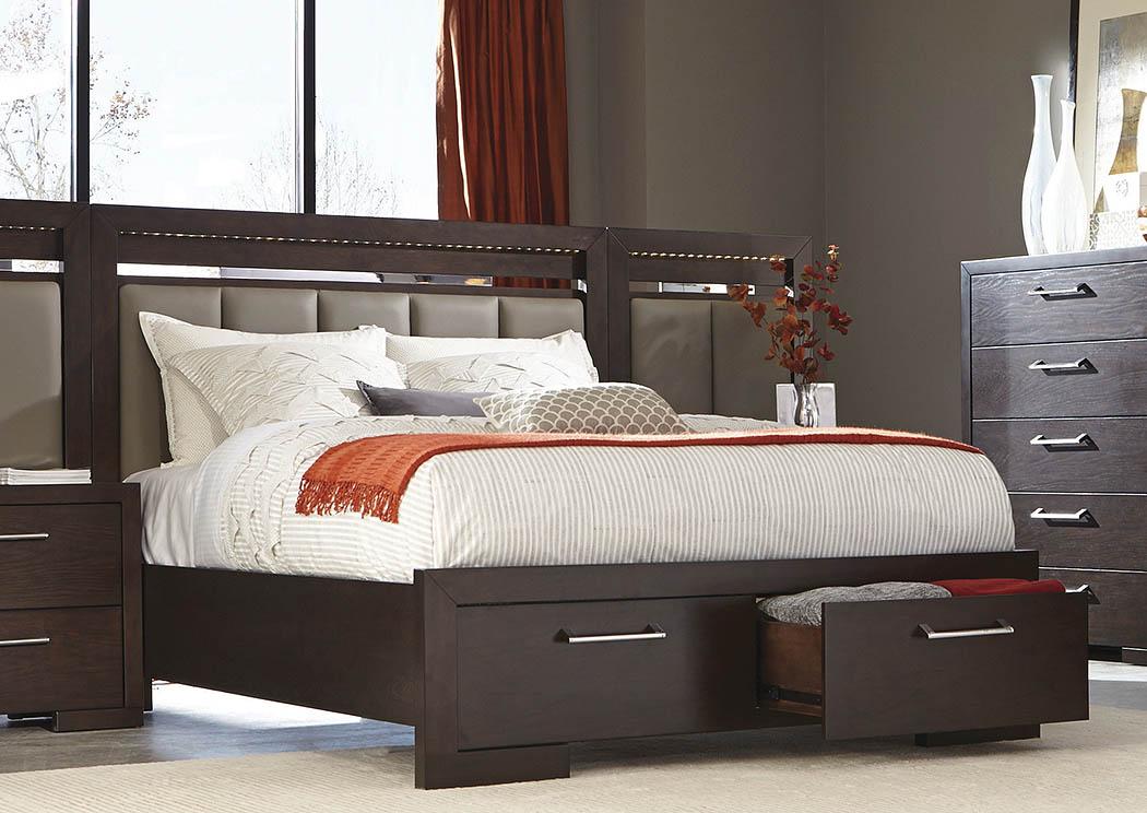 Bitter Chocolate King Storage Bed,Coaster Furniture