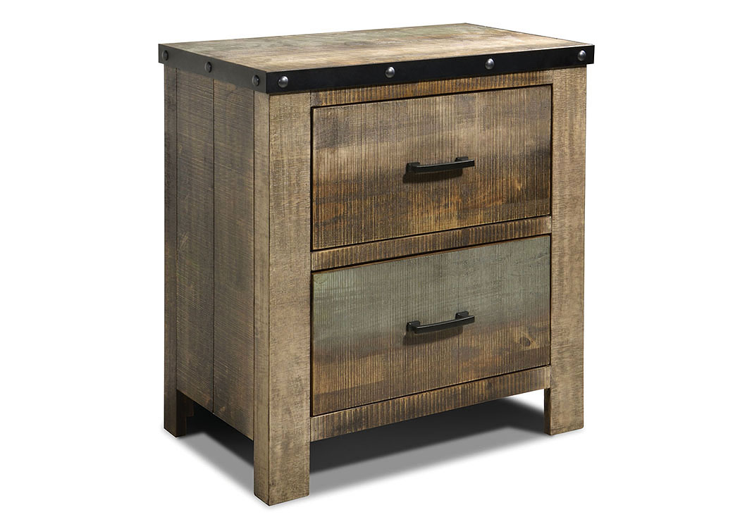 Jarons Antique Multi Color Nightstand
