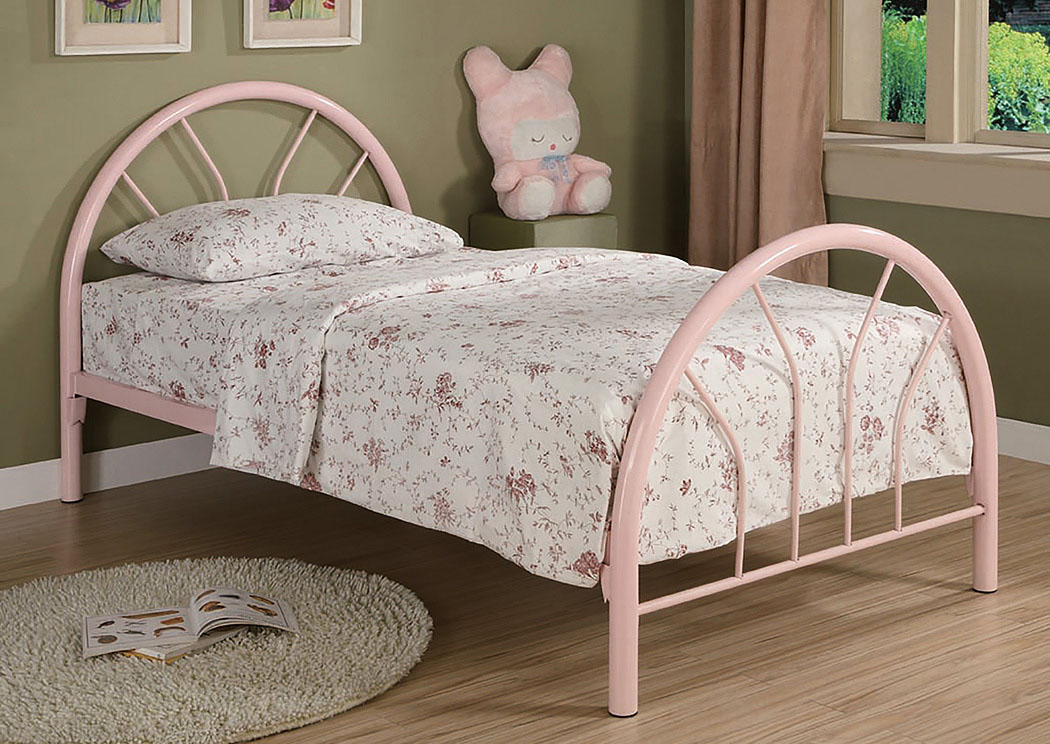 Pink Metal Twin Bed,Coaster Furniture