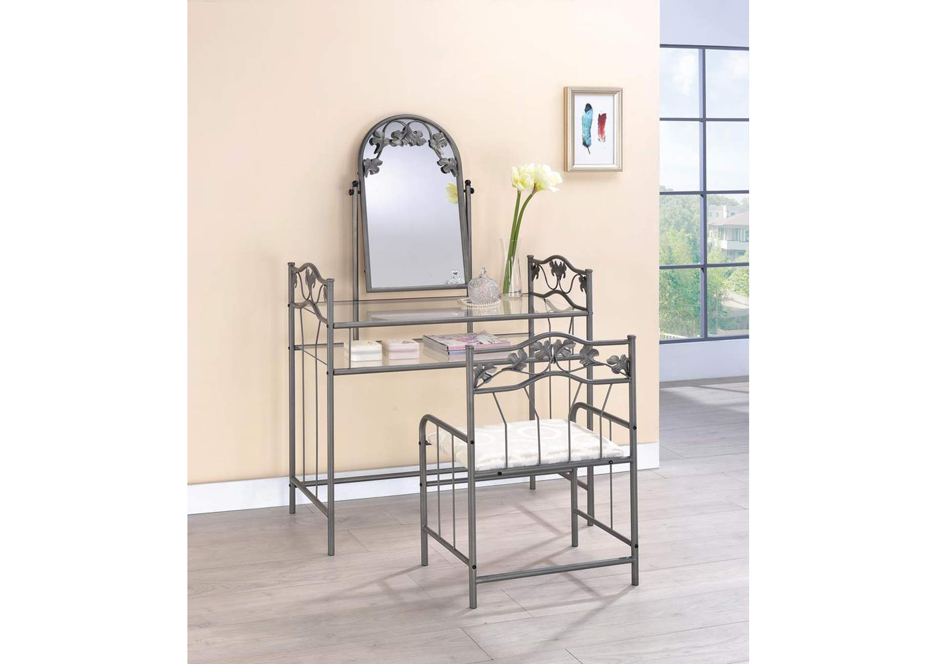 Vanity & Stool Set,Coaster Furniture