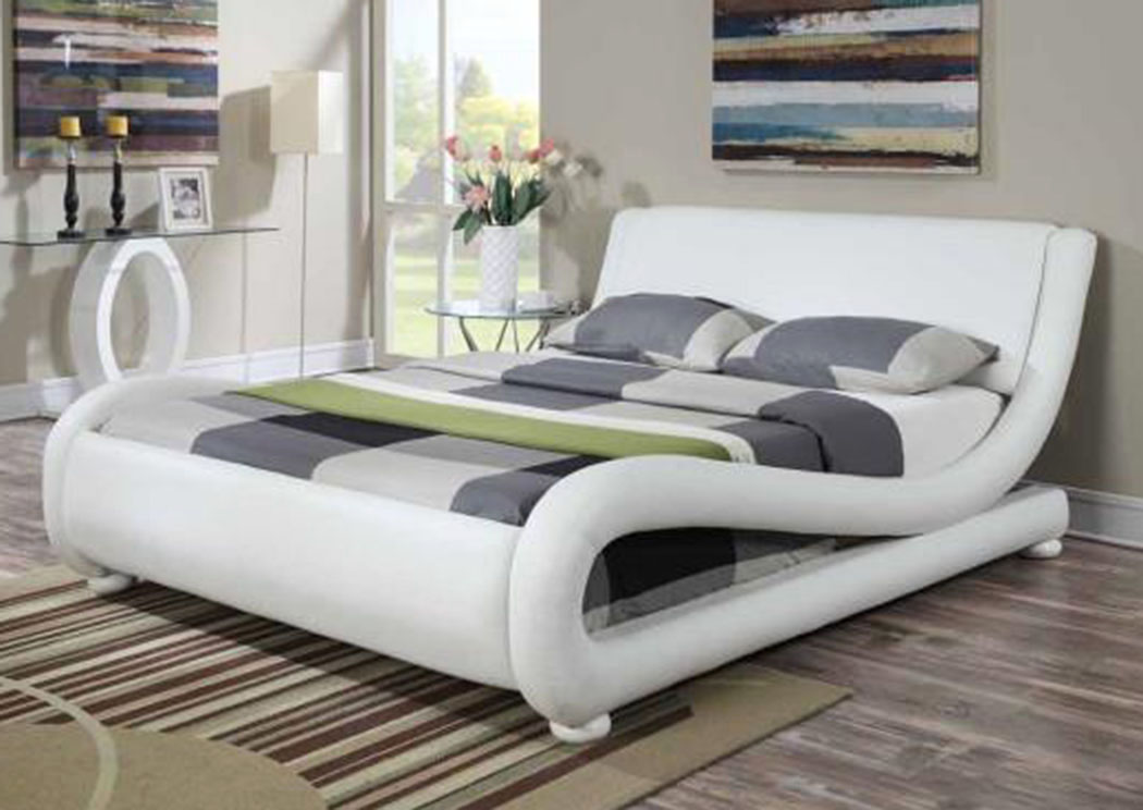 Compass Furniture White Eastern King Bed