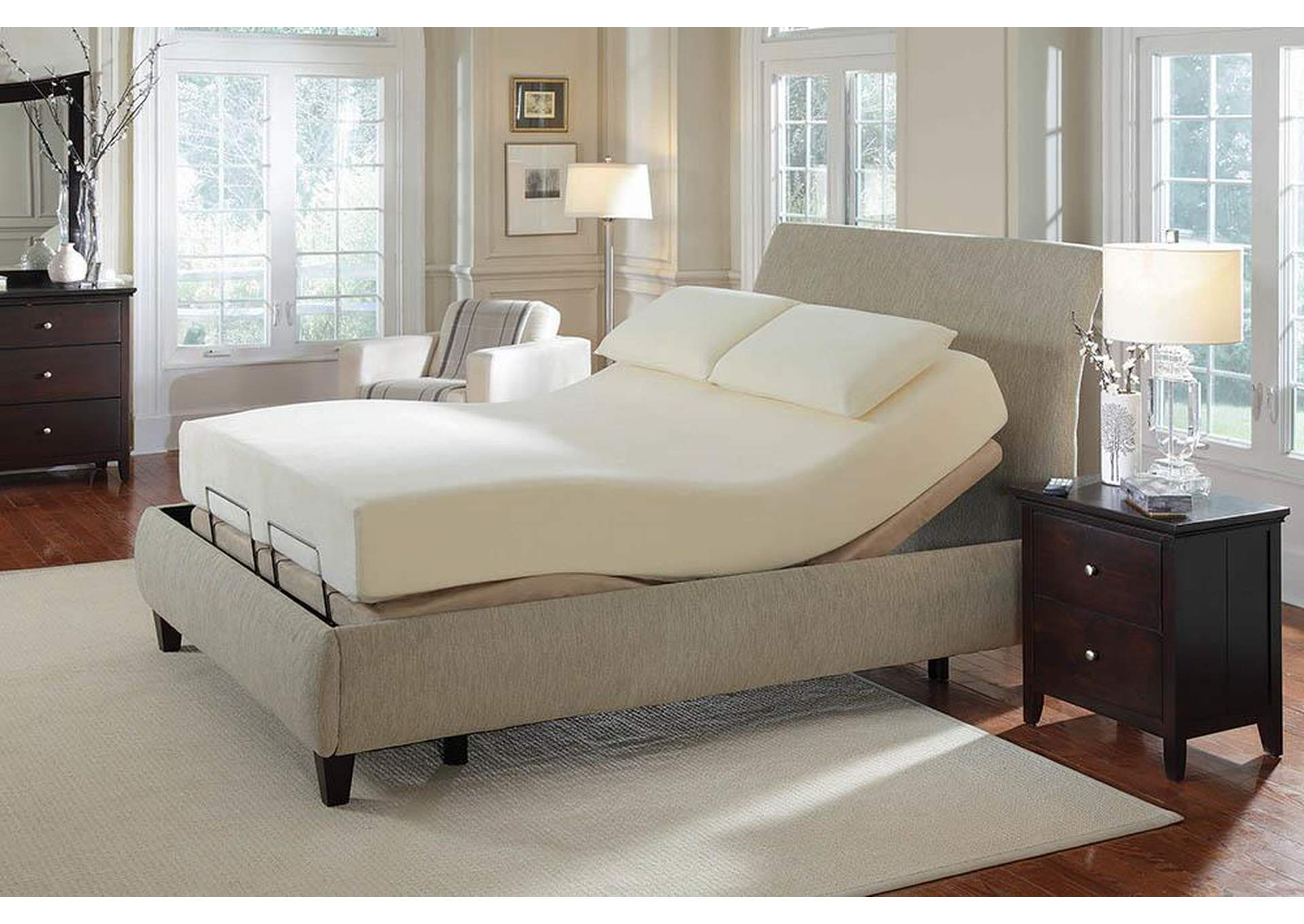 Cherry Adjustable California King Bed Base (Mattress And Bedframe Not  Included),Coaster Furniture