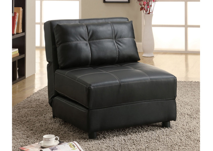Black Lounge Chair Sofa Bed,Coaster Furniture