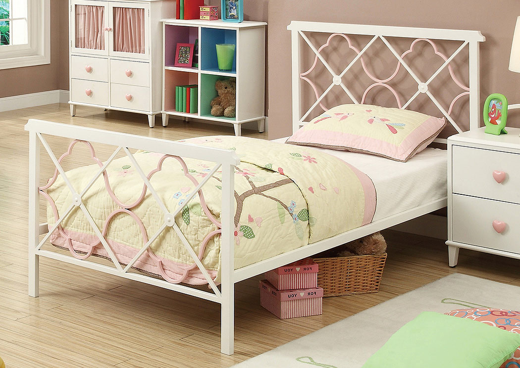 Juliette Sandy Yellow & Pink Twin Bed,ABF Coaster Furniture