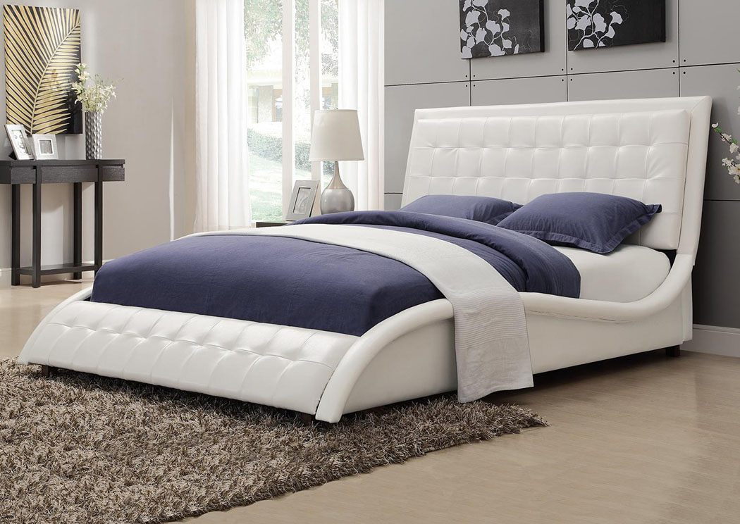 White Queen Bed,Coaster Furniture