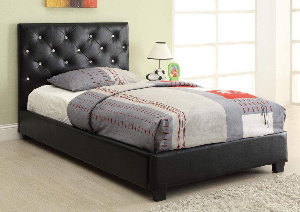 home furniture coaster furniture kids black twin bed