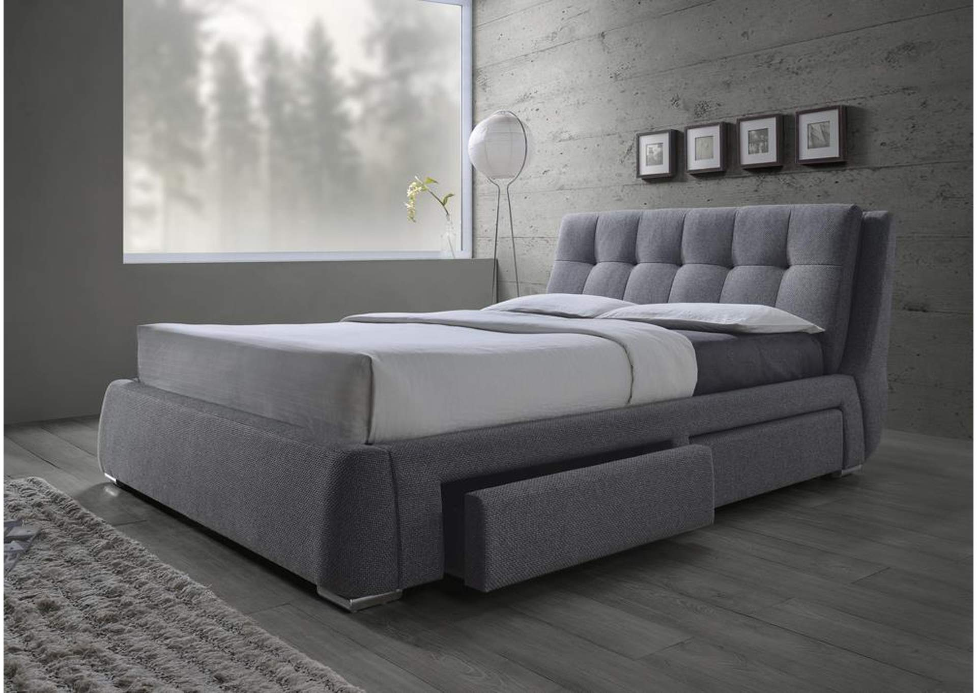 Queen Upholstered Storage Bed,Coaster Furniture