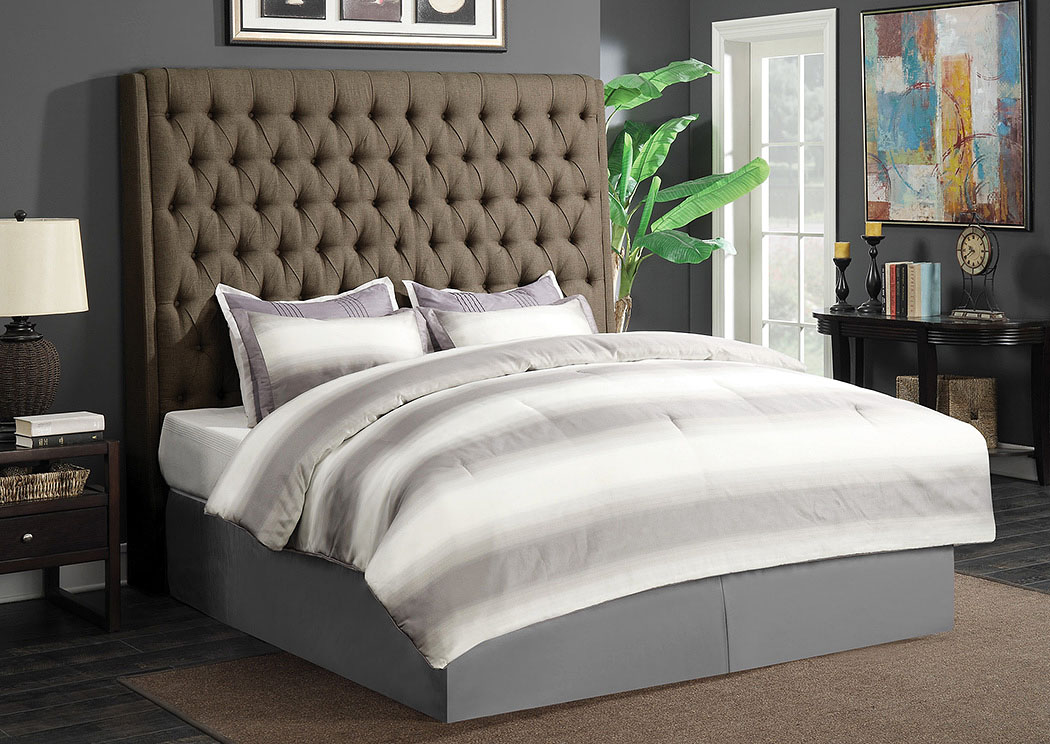 Brown Queen Upholstered/Platform Bed,Coaster Furniture