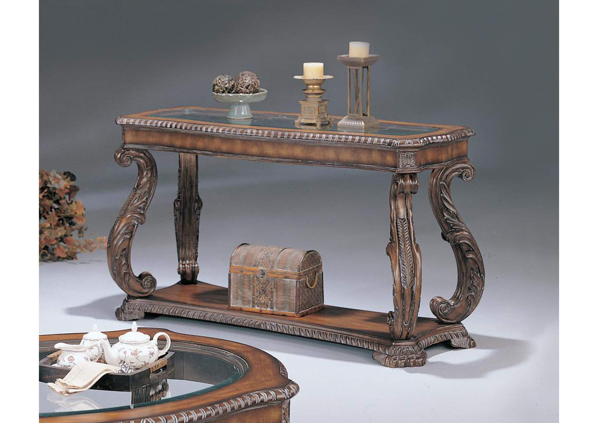 Brown Sofa Table,Coaster Furniture