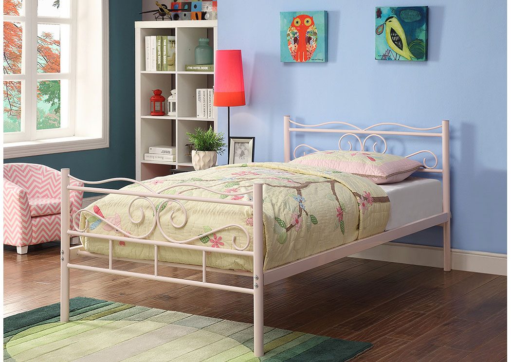 Pink Twin Bed,Coaster Furniture