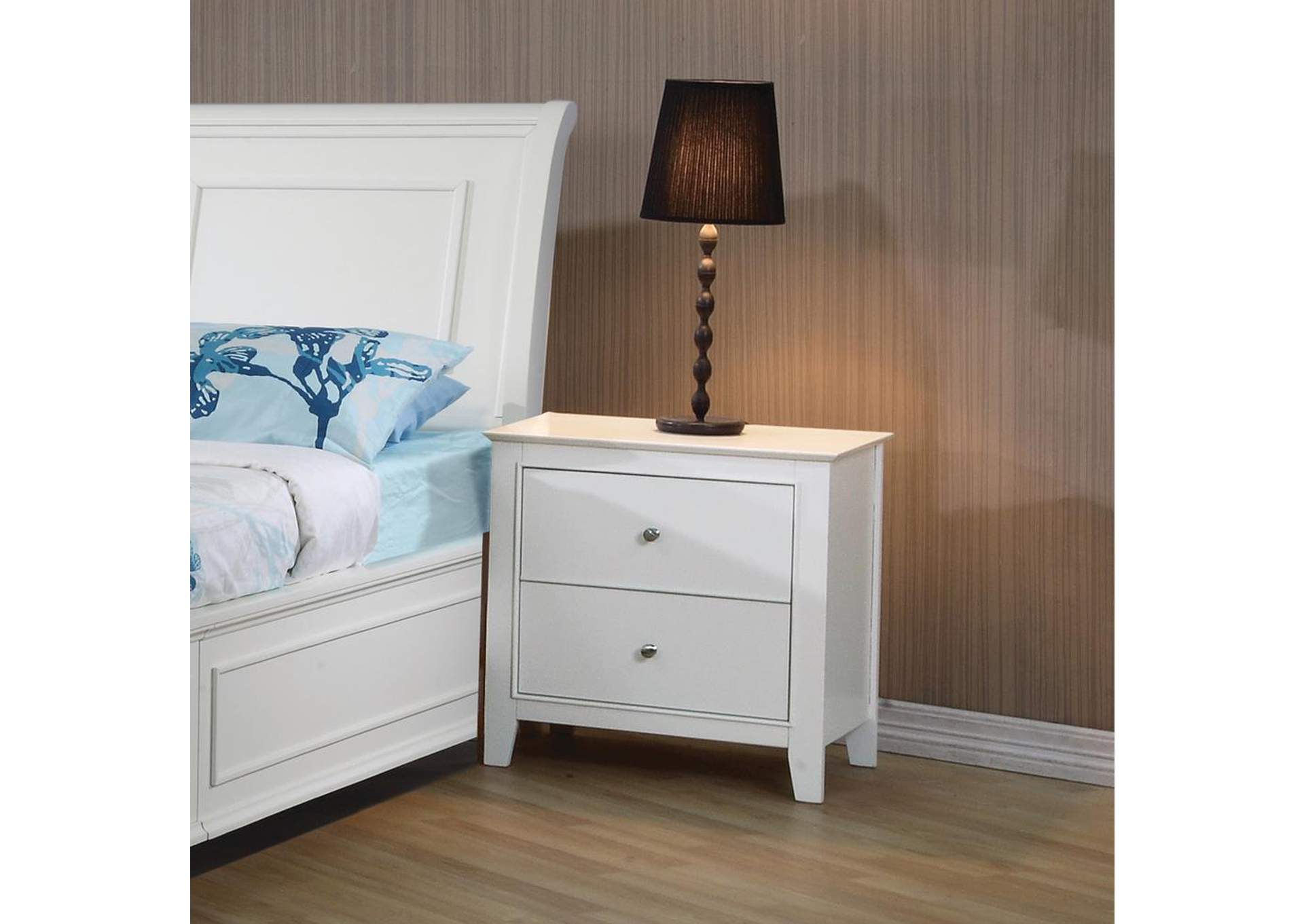 Selena White Nightstand,ABF Coaster Furniture