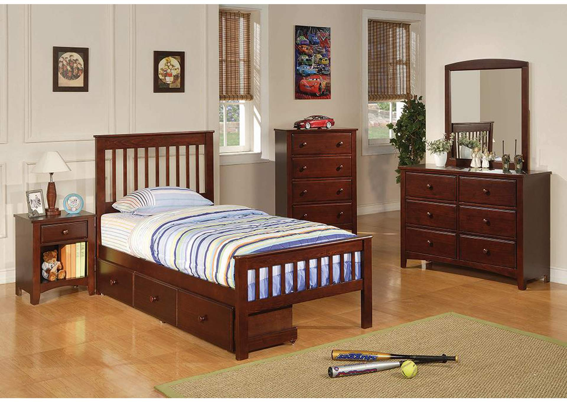 Parker Cappuccino Twin Bed