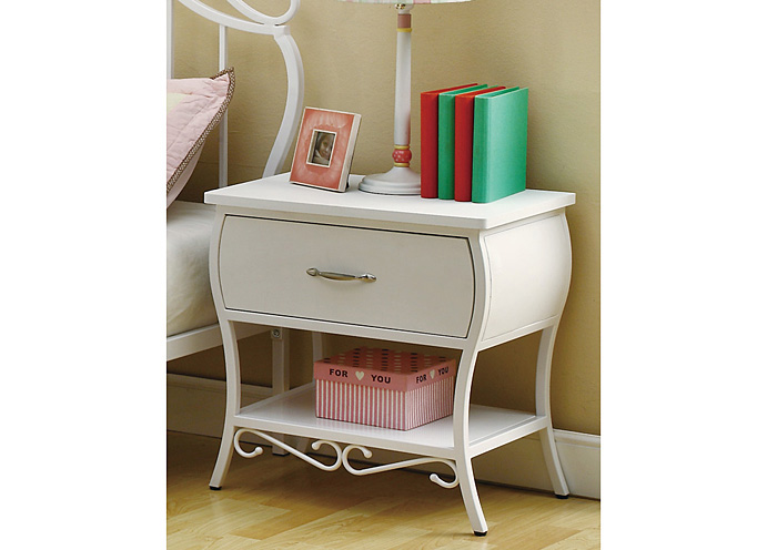 Bella White Night Stand,ABF Coaster Furniture