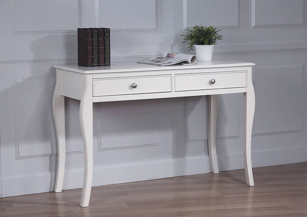Dominique White Desk,Coaster Furniture