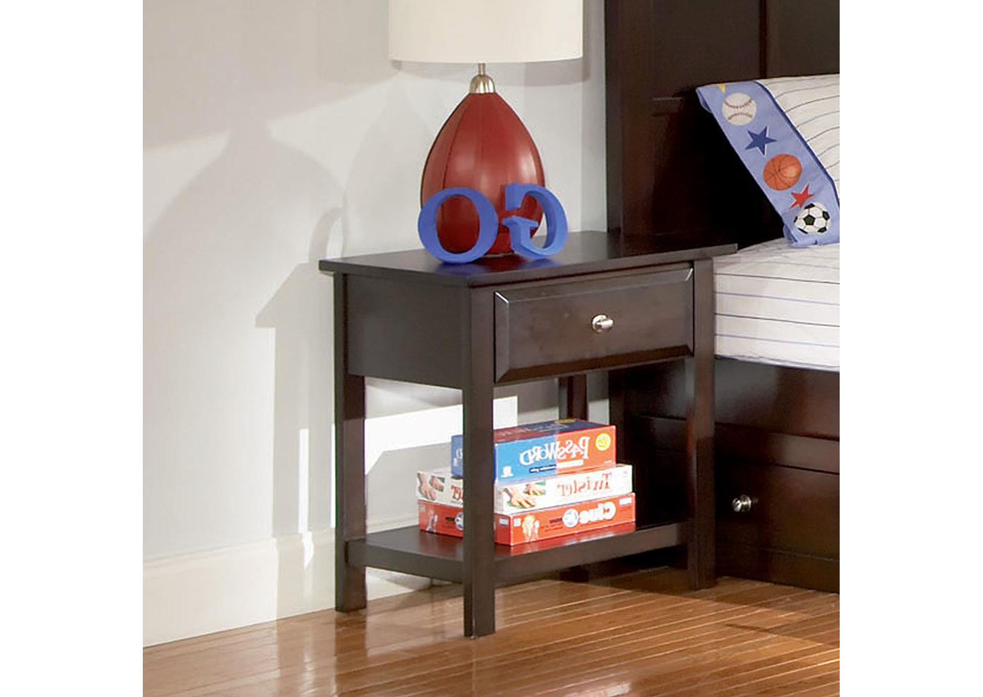 Jasper Cappuccino Night Stand,Coaster Furniture