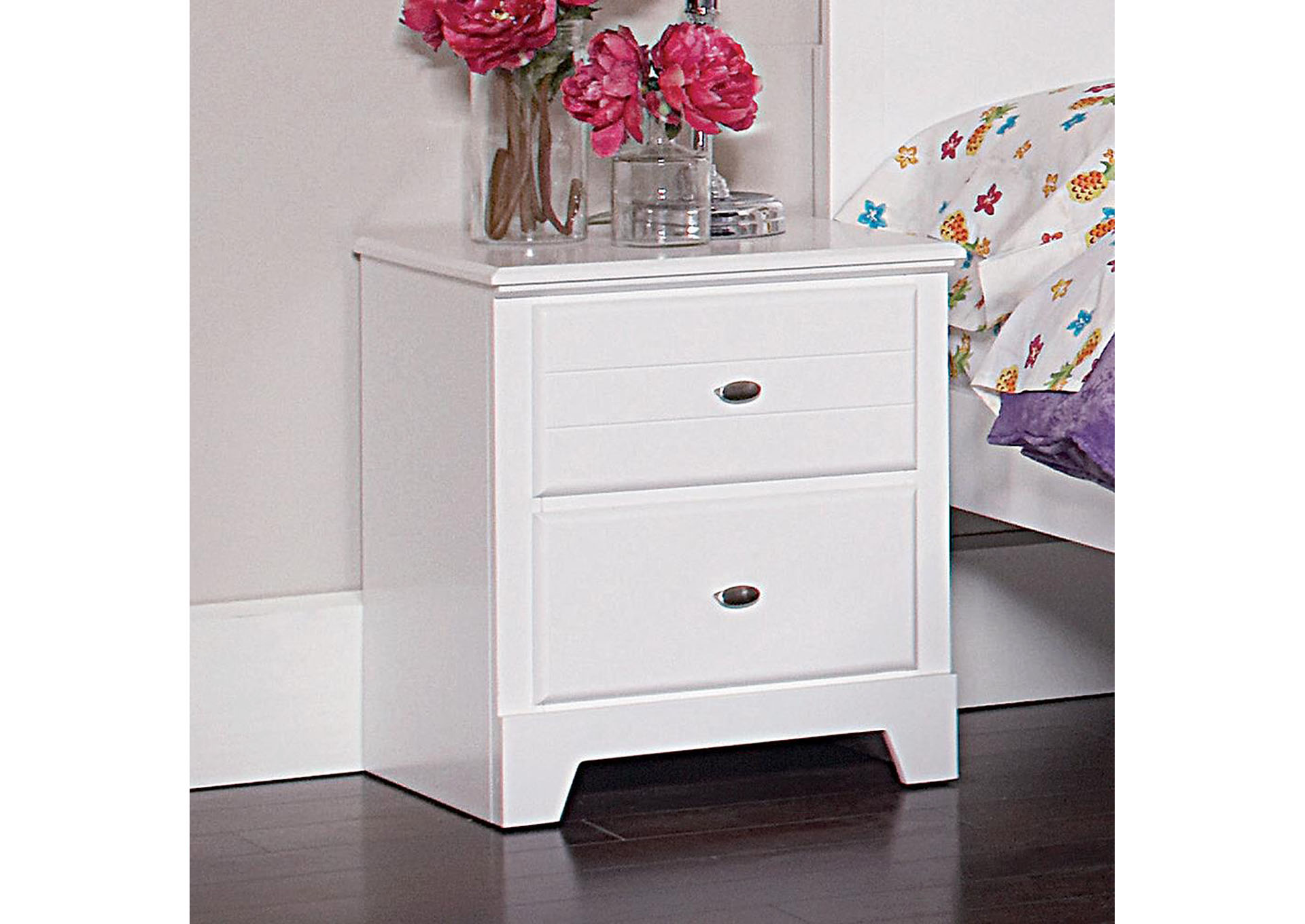 White Nightstand,Coaster Furniture