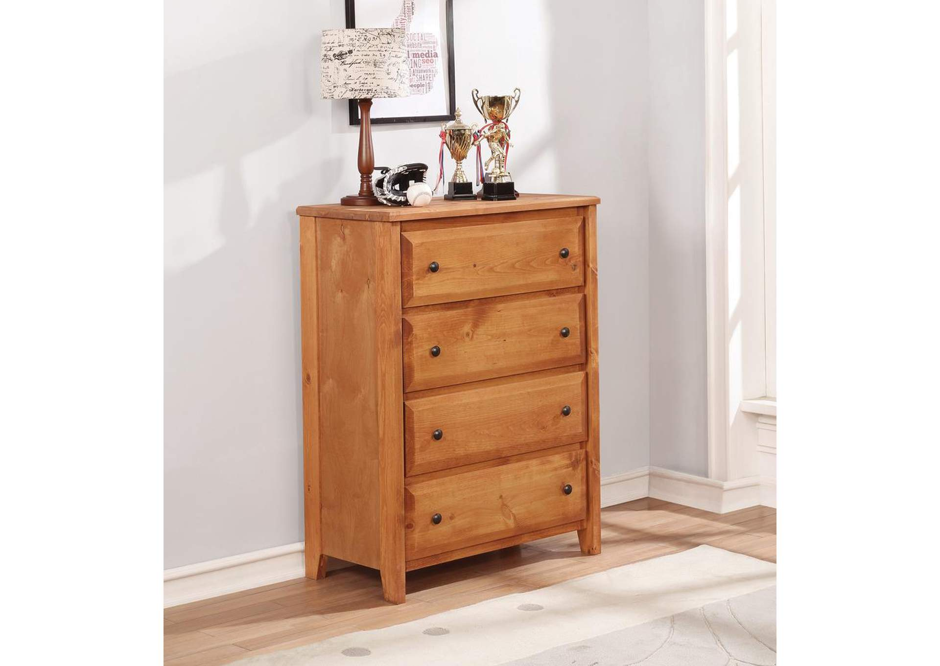 4 Drawer Chest,Coaster Furniture