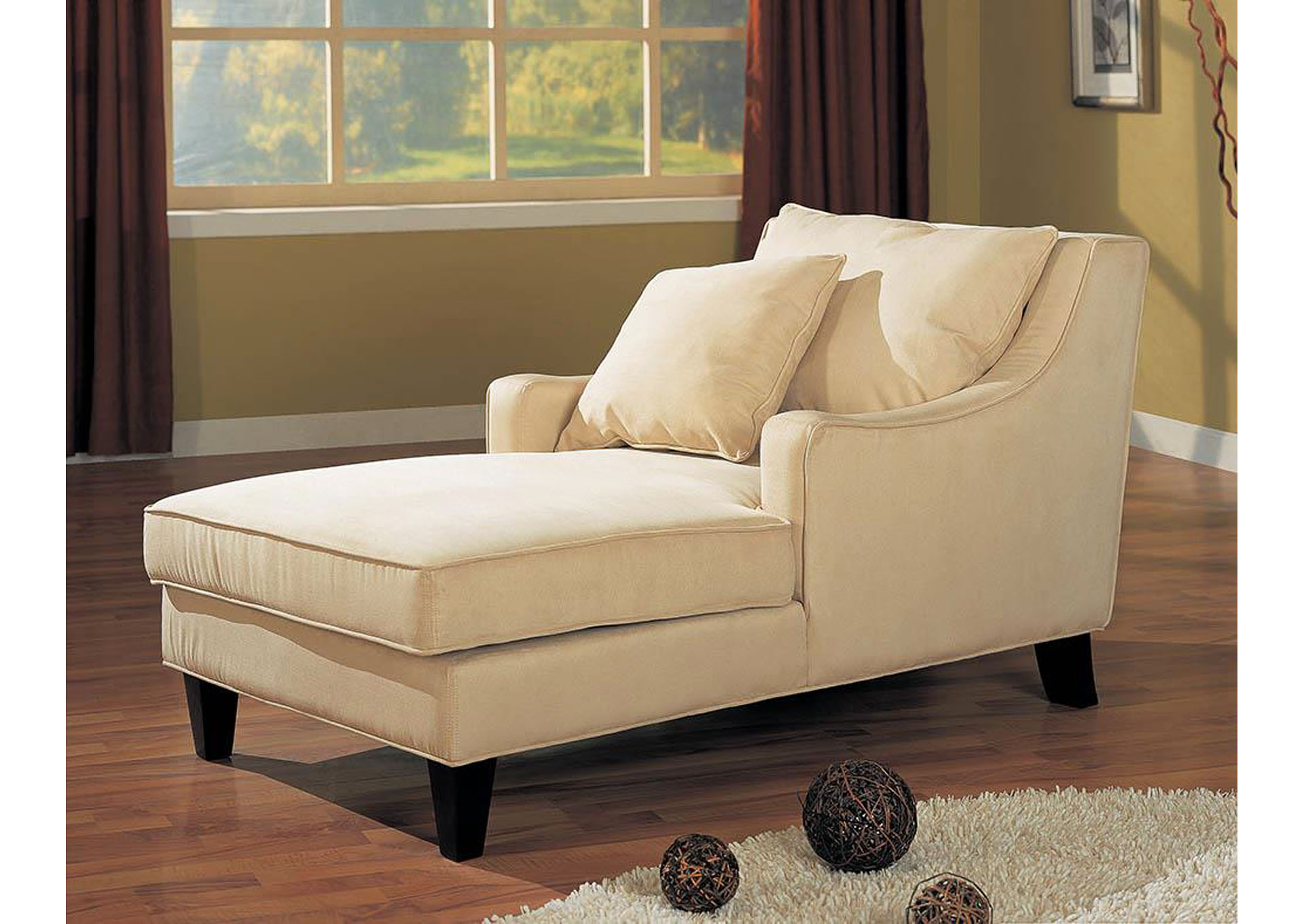 Beige & Cappuccino Chaise,Coaster Furniture
