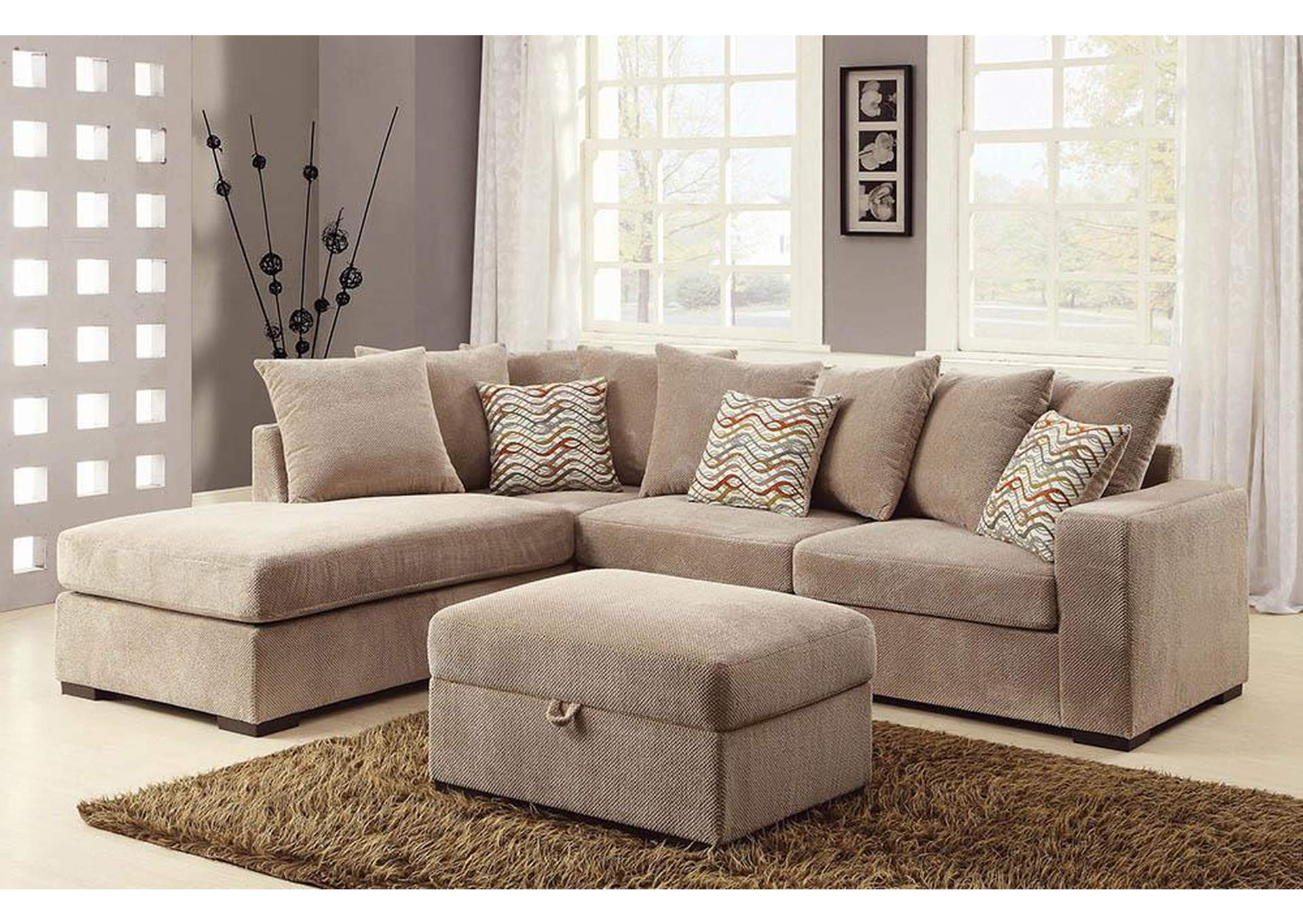 Taupe Sectional,Coaster Furniture