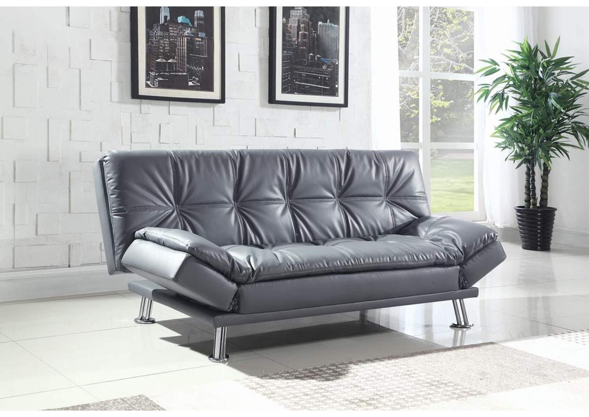 Living Room Dark Grey Sofa BedCoaster Furniture