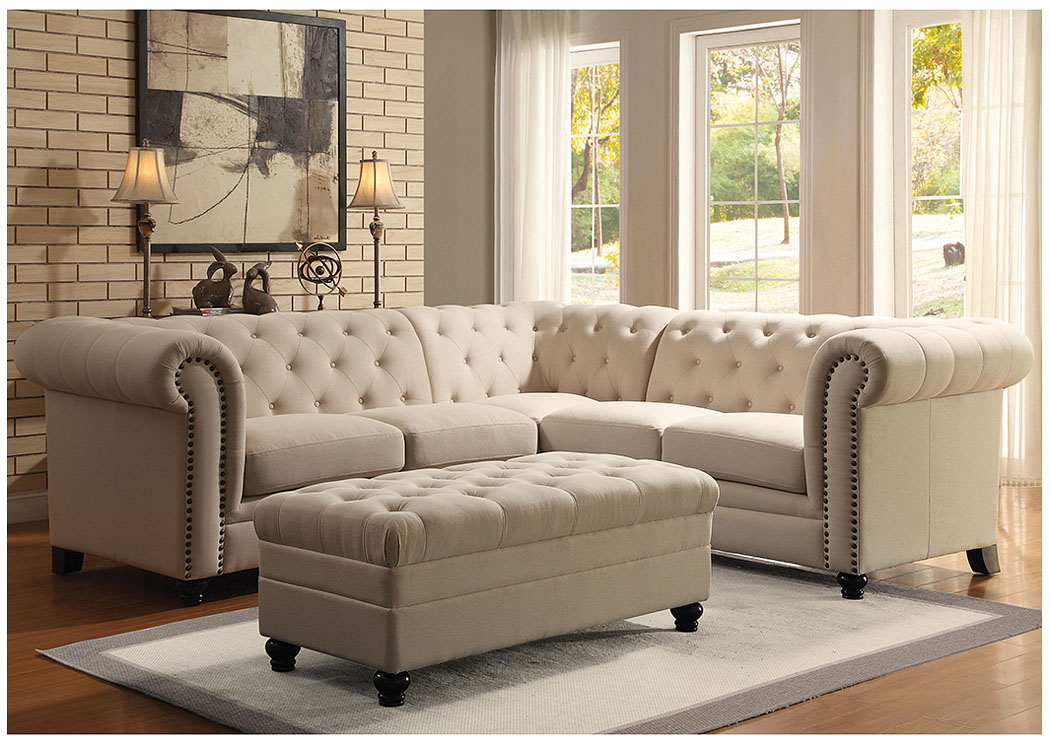 Oatmeal Sectional (Ottoman Sold Separately),Coaster Furniture